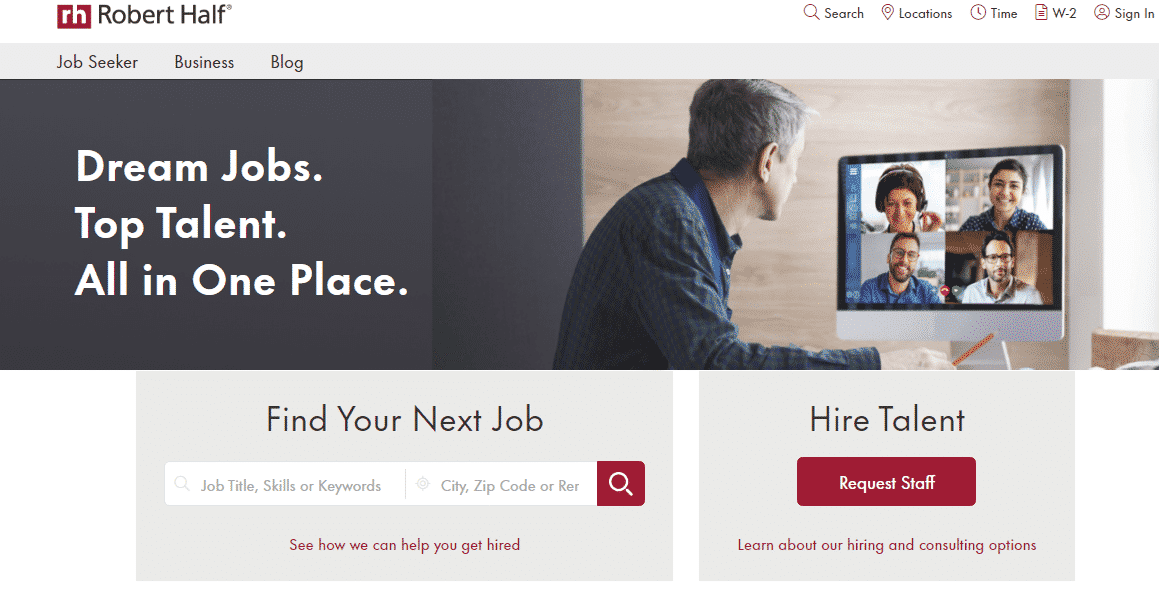 Robert Half Job Search Engine