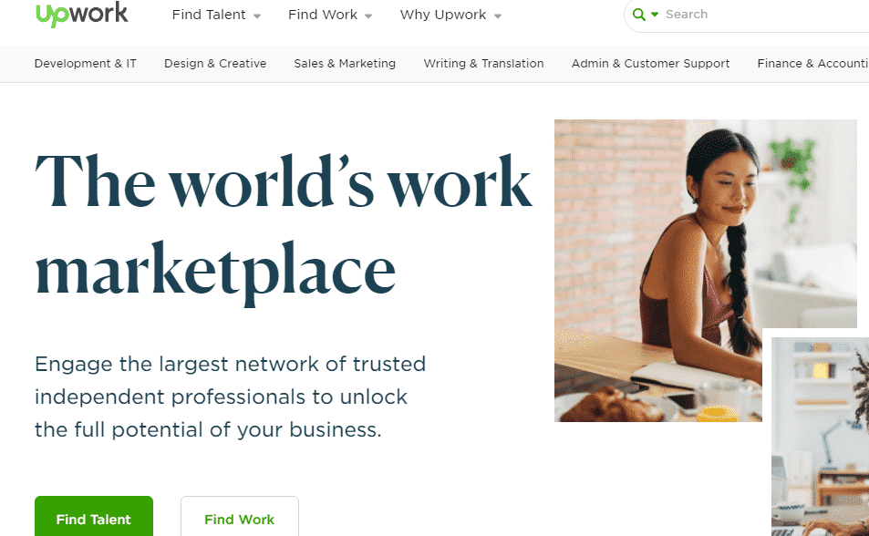 Upwork job search engine