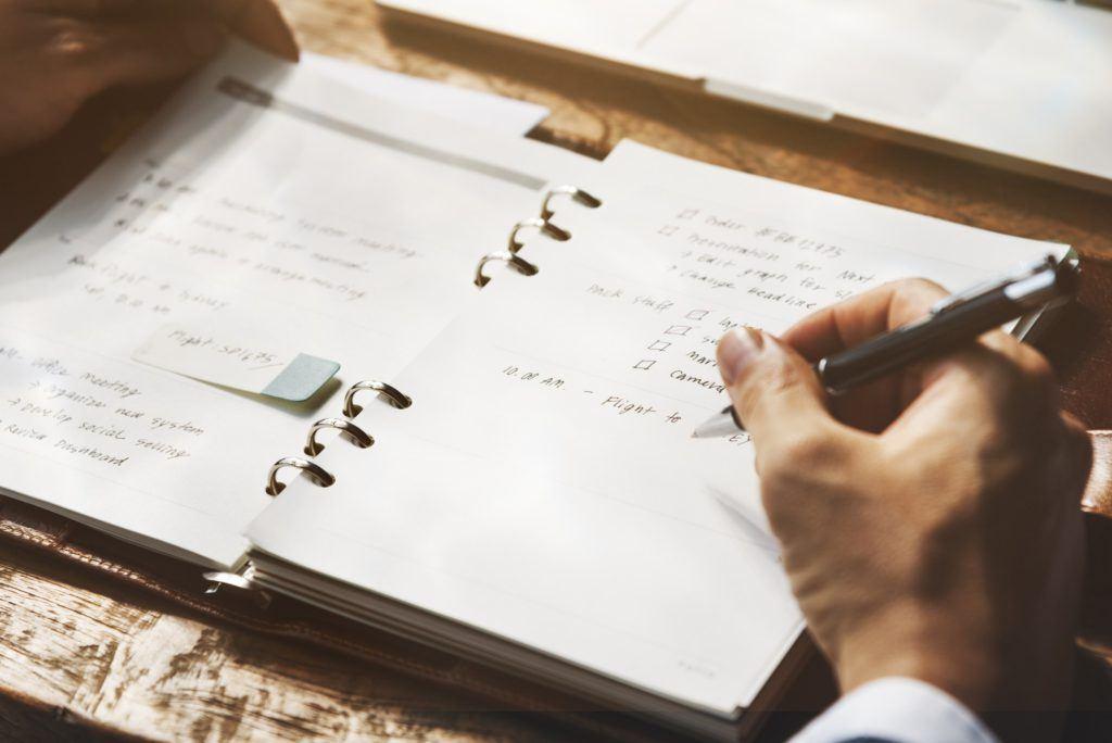 Writing Summary Analytics Informartion Business Meeting Concept