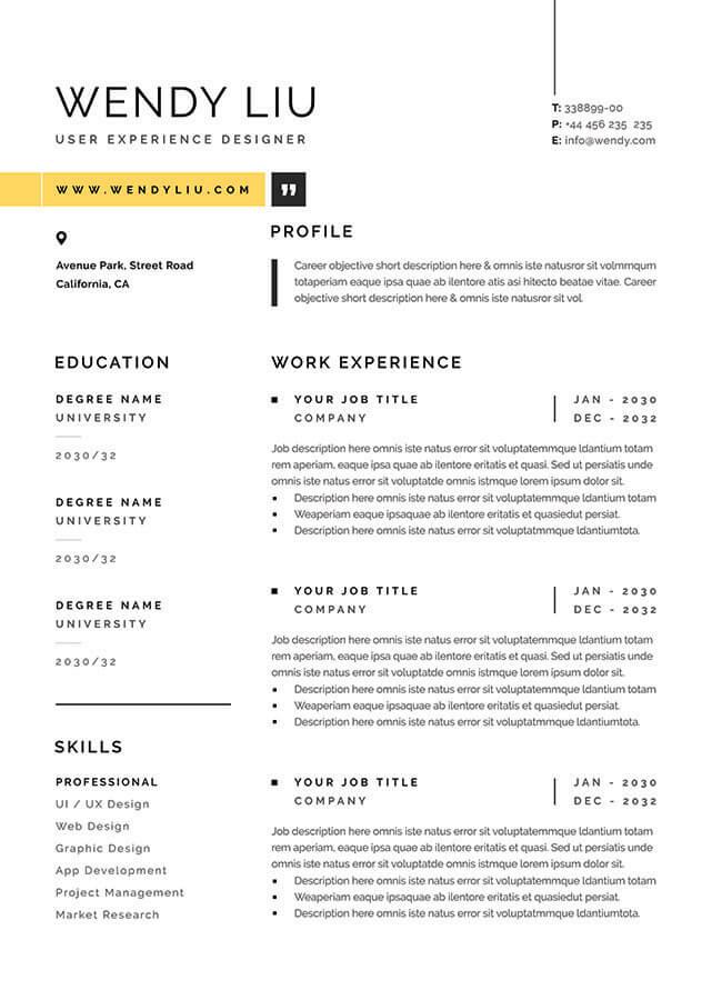 sydney resume template