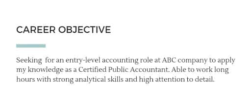Accounting resume career objective