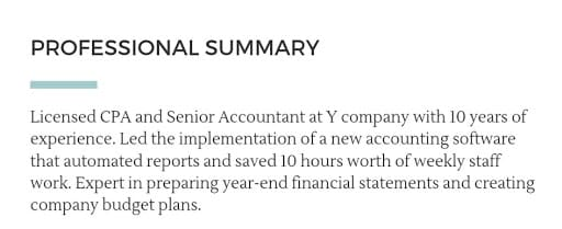 Accounting Resume Examples