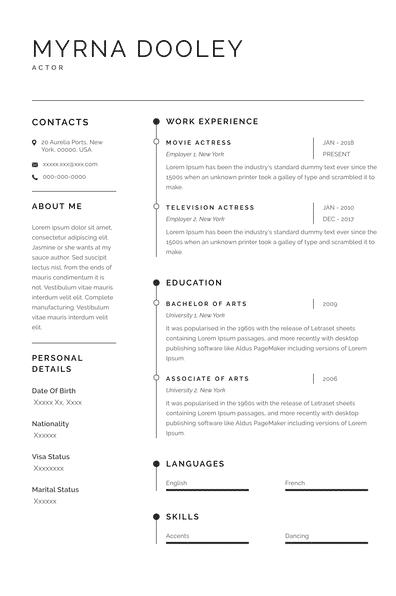 Actor Resume (EN)-Sydney.pdf