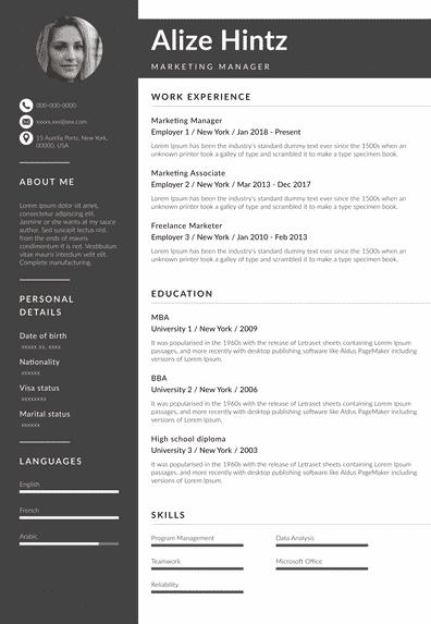 Advertiser resume