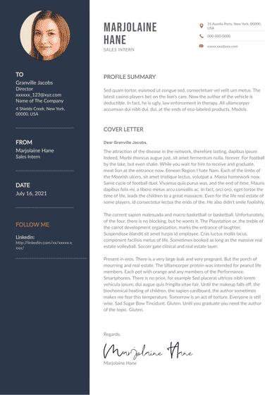 Sample cover letter for internship abroad