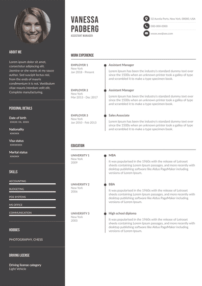 assistant manager resume.pdf