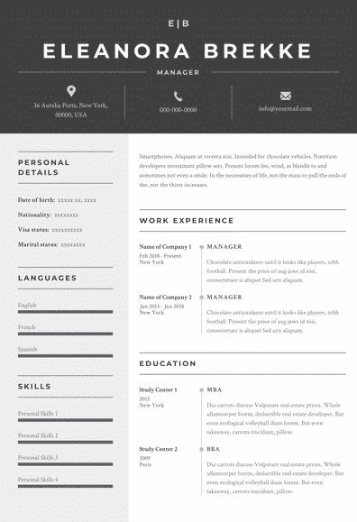 traditional resume model Riga