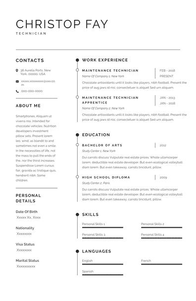 Resume for Technician (EN)-Sydney.pdf